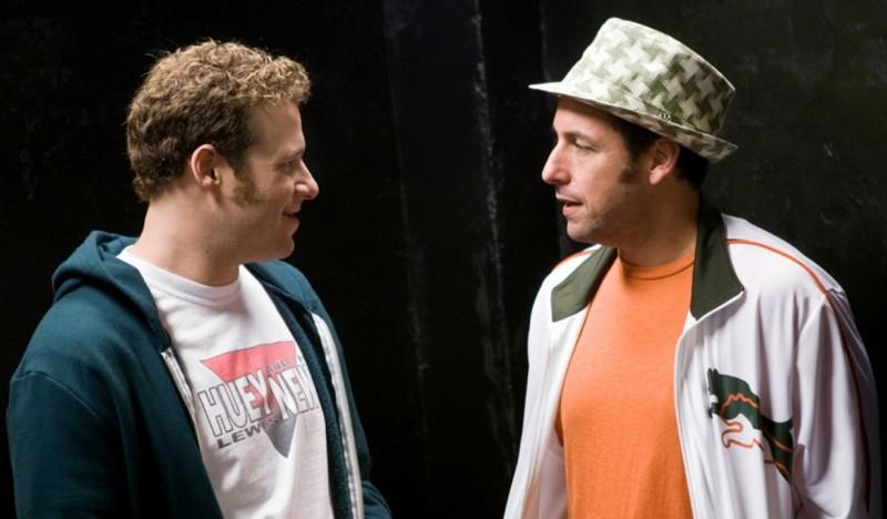 Seth Rogen e Adam Sandler in una scena della commedia Funny People di Judd Apatow