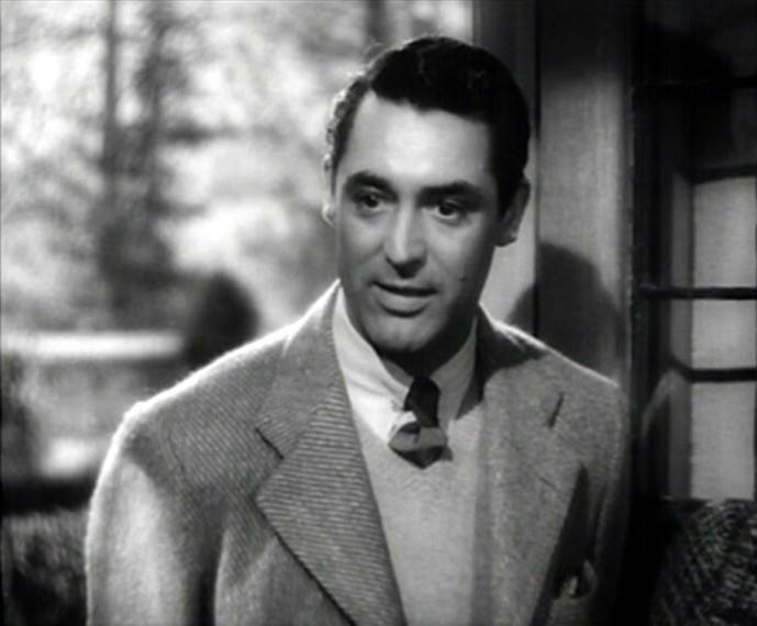 Cary Grant in una sequenza del film Il sospetto ( 1941 )