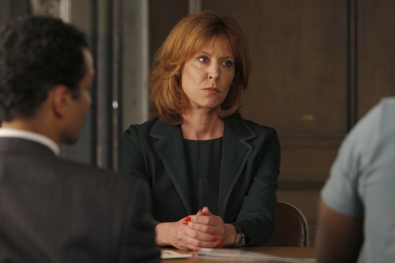 Christine Lahti in una scena dell'episodio Unstable di Law & Order: SVU