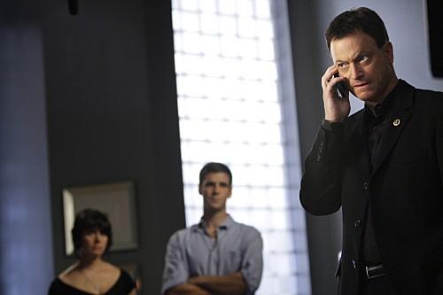 Gary Sinise in una scena dell'episodio Dead Reckoning di CSI New York