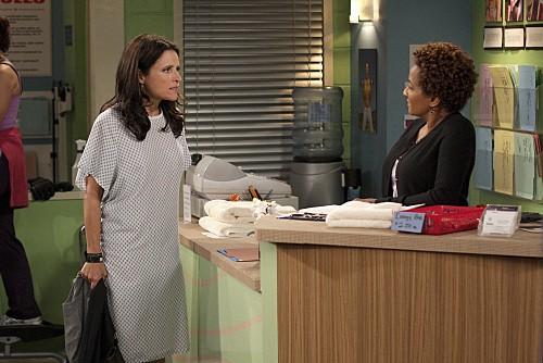 Julia Louis-Dreyfus e Wanda Sykes nell'episodio The Mole de La complicata vita di Christine
