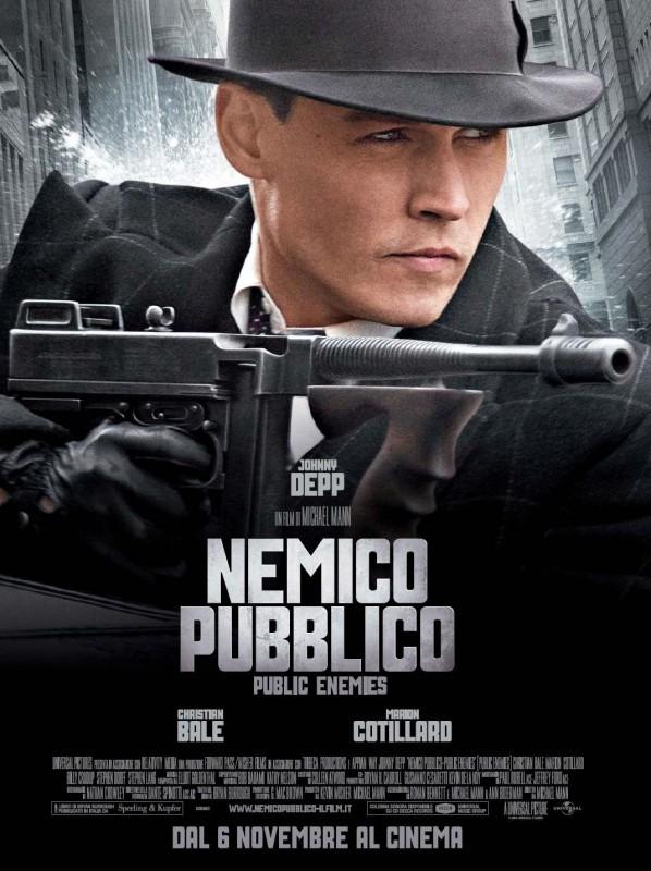 La locandina italiana di Nemico pubblico - Public Enemies