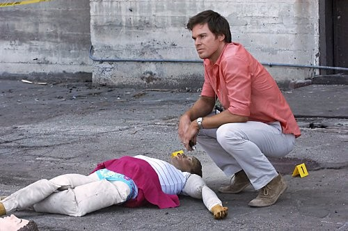 Michael C. Hall in un momento dell'episodio Blinded by the Light di Dexter