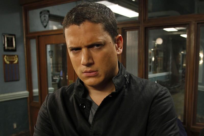 Wentworth Miller in una scena dell'episodio Unstable di Law & Order: SVU