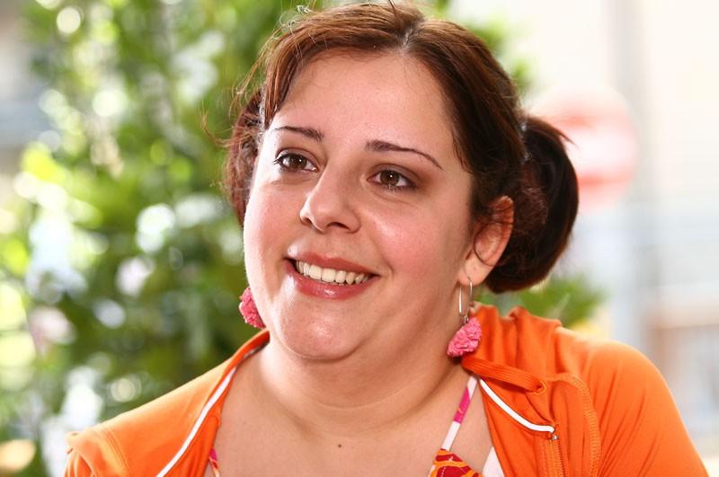 Giulia Gennari in una scena della fiction Una sera d'ottobre
