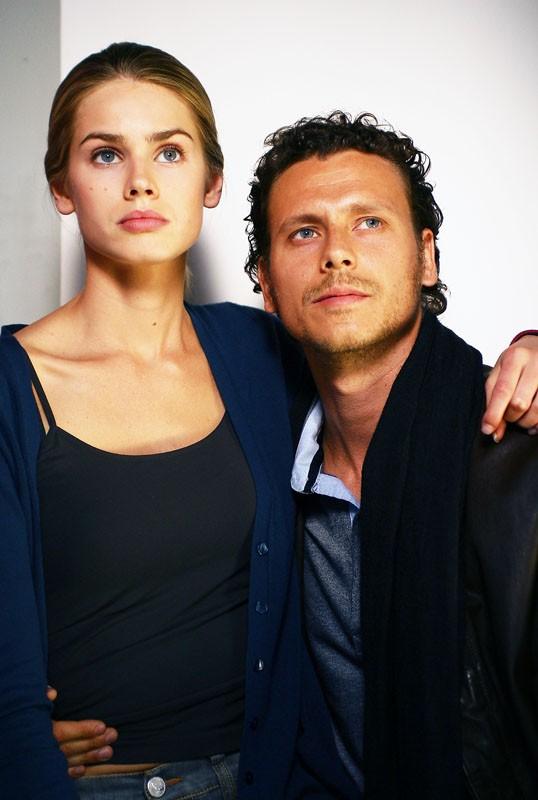Luca Bastianello e Vanessa Hessler nella fiction Una sera d'ottobre