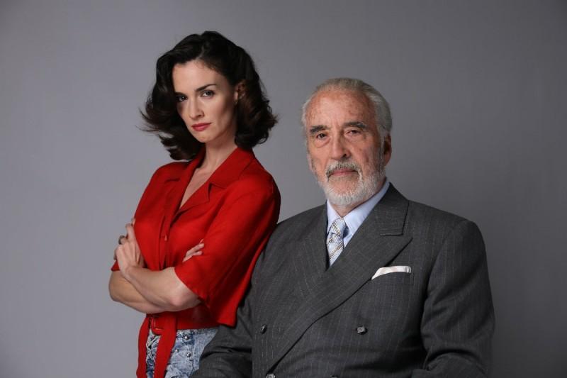 Paz Vega e Christopher Lee in una foto promozionale del film Triage