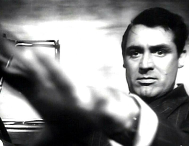 Cary Grant in una scena del film Il sospetto ( 1941 ) di Alfred Hitchcock