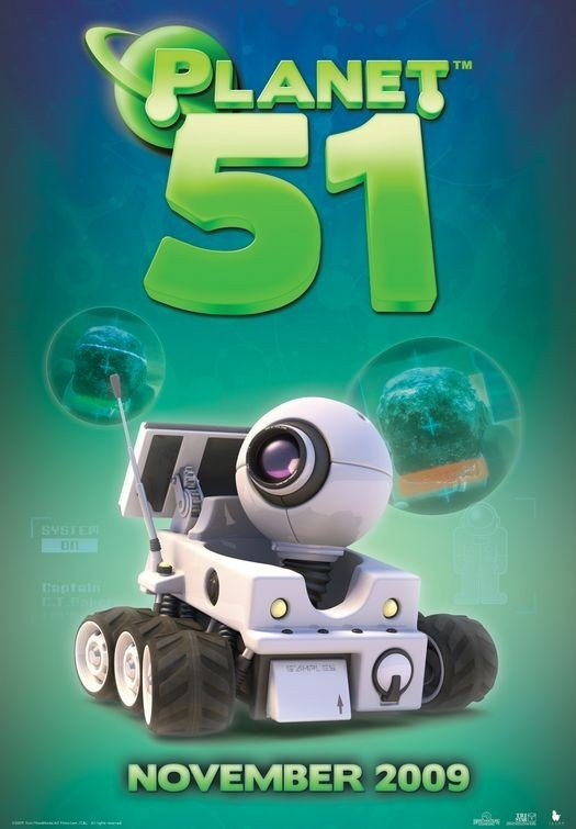 Character Poster (3) per Planet 51