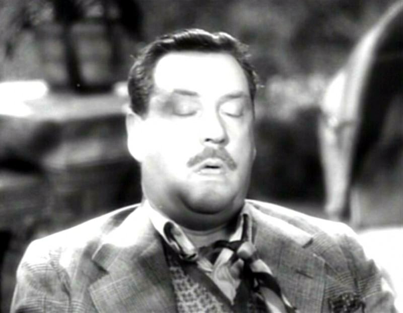 Nigel Bruce in una scena del film Il sospetto ( 1941 )