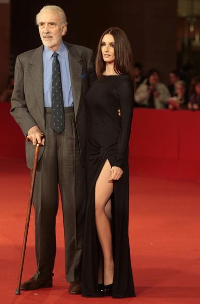 Roma 2009: la bellissima Paz Vega presenta il film Triage, di cui è protagonista, accanto a Christopher Lee