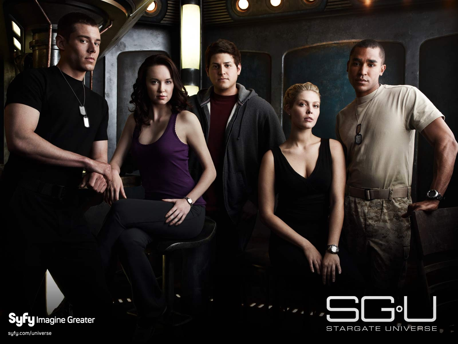 Wallpaper: il cast principale di Stargate Universe