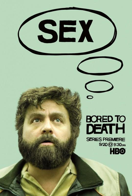 Bored to Death: Character Poster sul personaggio di Zach Galifianakis