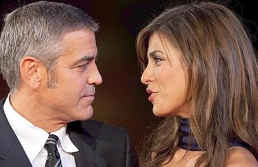 Festival di Roma 2009: la coppia più chiacchierata dell'anno Elisabetta Canalis e George Clooney