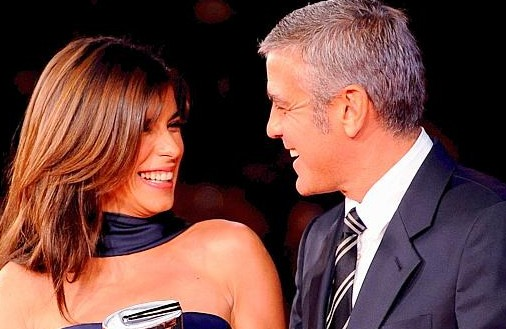 Festival di Roma 2009: sguardi complici tra Elisabetta Canalis e George Clooney