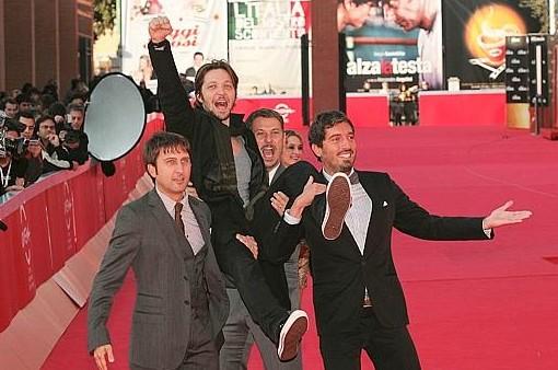 Festival di Roma 2009: un red carpet 'goliardico' per il Trio Medusa e Silvio Muccino doppiatori di Astro Boy