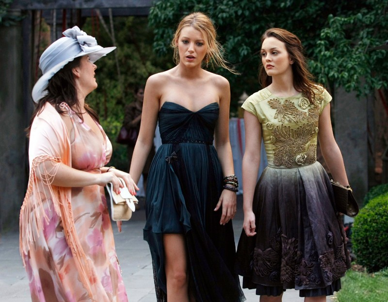 Leighton Meester e Blake Lively nell'episodio Rufus Getting Married di Gossip Girl