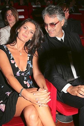Roma 2009: Andrea Bocelli con la sua compagna Veronica Berti. Il cantante ha presentato 'Omaggio a Roma'
