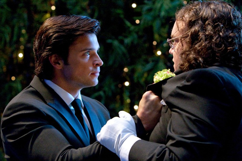Tom Welling e Chris Gauthier in una scena dell\'episodio Echo della serie Smallville