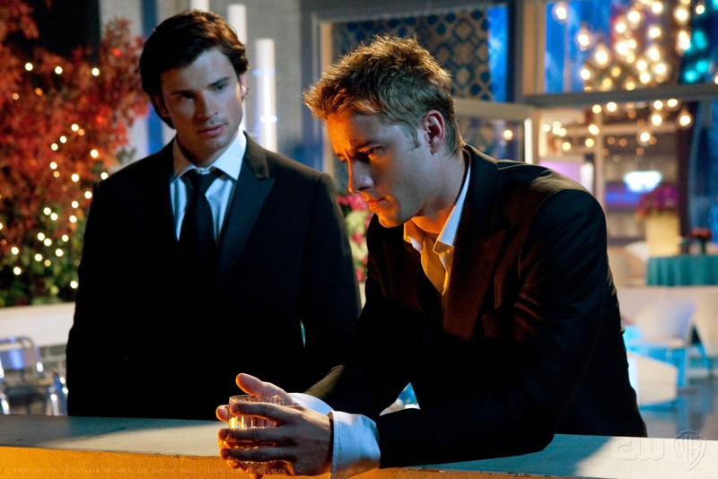 Tom Welling e Justin Hartley in una scena dell\'episodio Echo della serie Smallville