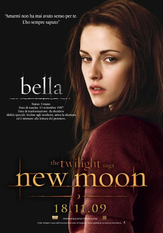 Un character poster dedicato a Bella (Kristen Stewart) con la data di uscita in Italia