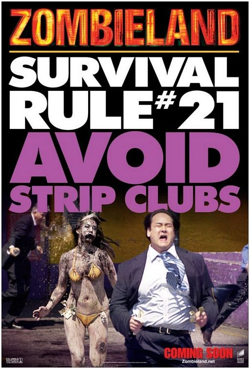 Un ironico educational poster per Zombieland - Survival Rule # 21