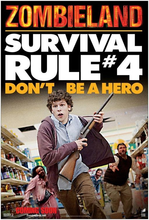 Un ironico educational poster per Zombieland - Survival Rule # 4