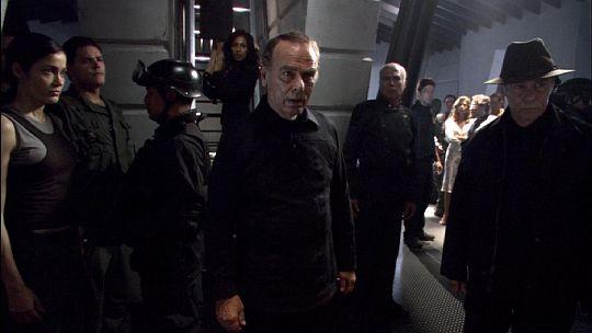 Una scena del film TV Battlestar Galactica: The Plan