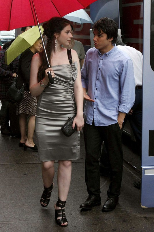Michelle Trachtenberg e Chris Riggi nell'episodio Rufus Getting Married di Gossip Girl
