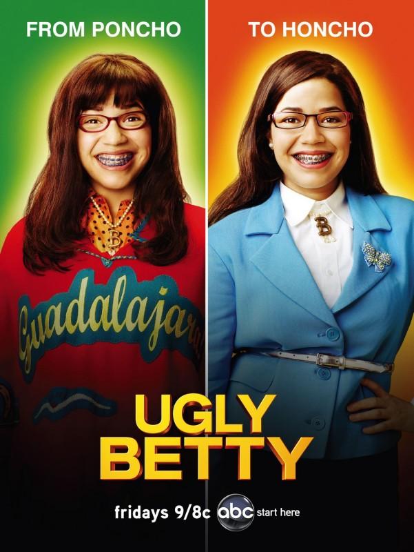 Un poster della stagione 4 di Ugly Betty