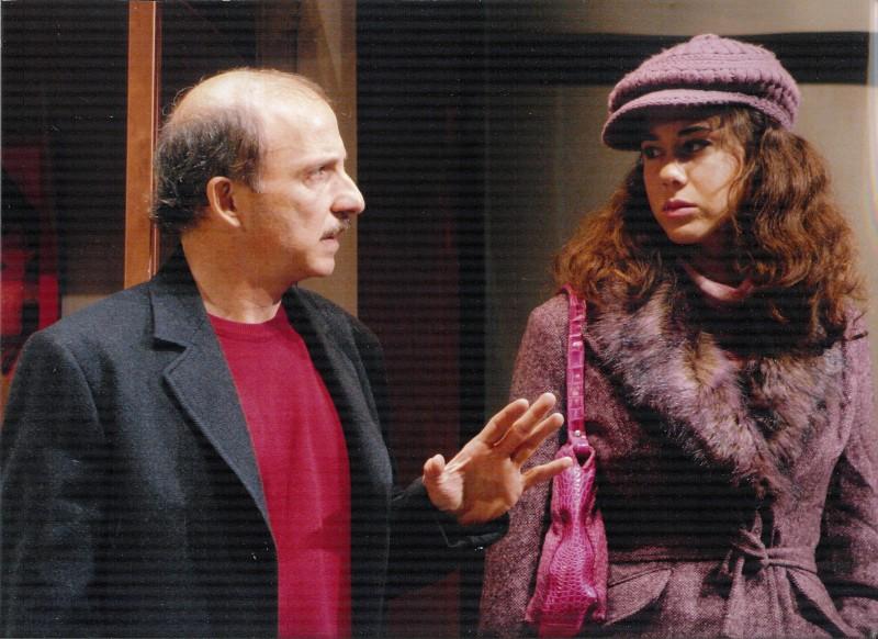 Claudiafederica Petrella e Carlo Buccirosso in scena con Vogliamoci tanto bene