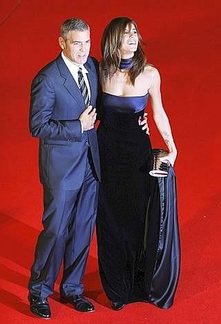 Festival di Roma 2009: tante chiacchiere e pochi baci per Elisabetta Canalis e George Clooney