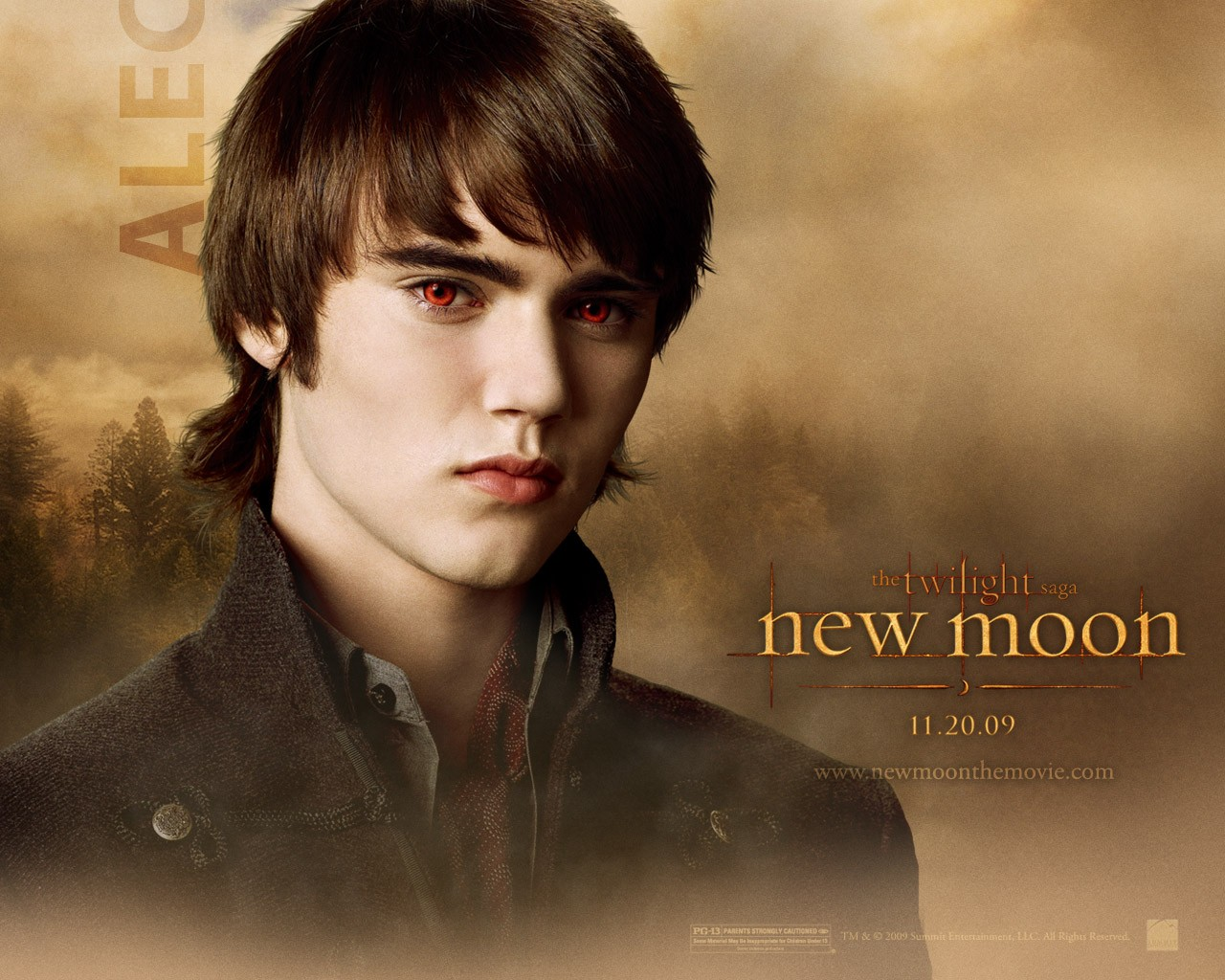 Un wallpaper dedicato al personaggio di Alec (Cameron Bright) per il film Twilight Saga: New Moon