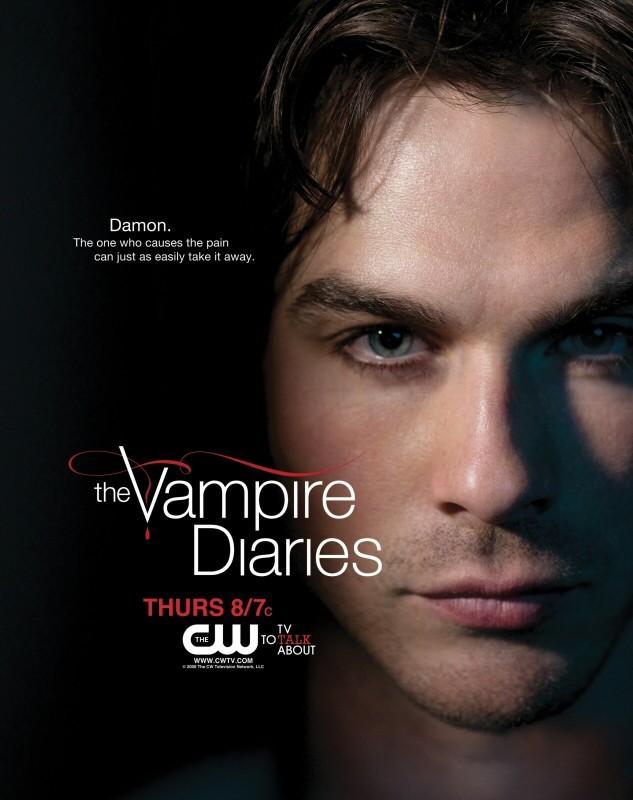 Un character poster della CW per Damon (Ian Somerhalder) per The Vampire Diaries