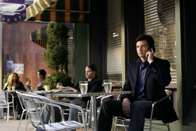 Clark (Tom Welling) in una scena dell'episodio Crossfire di Smallville