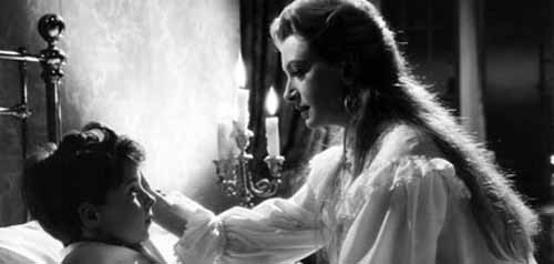 Deborah Kerr e Martin Stephens in una scena del film Suspense ( 1961 )
