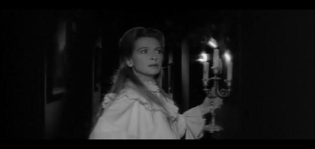 Deborah Kerr in una inquietante scena del film Suspense ( 1961 )