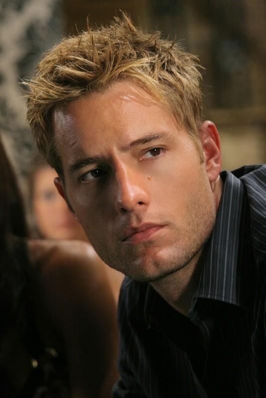 Un primo piano di Justin Hartley nell'episodio Roulette di Smallville