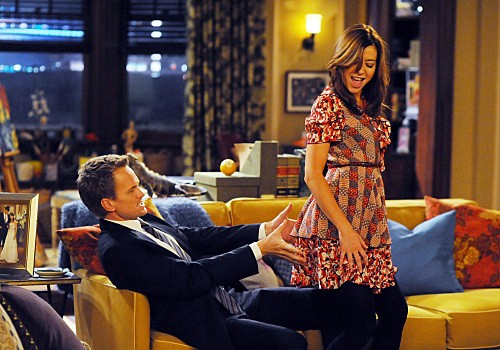 Alyson Hannigan e Neil Patrick Harris nell'episodio Bagpipes di How I Met Your Mother