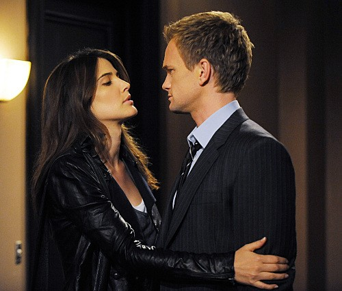 Cobie Smulders e Neil Patrick Harris nell'episodio Bagpipes di How I Met Your Mother