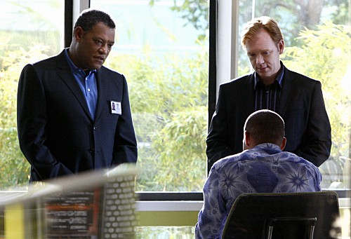 CSI Miami: un'immagine tratta dal cross-over con CSI Las Vega, Bone Voyage