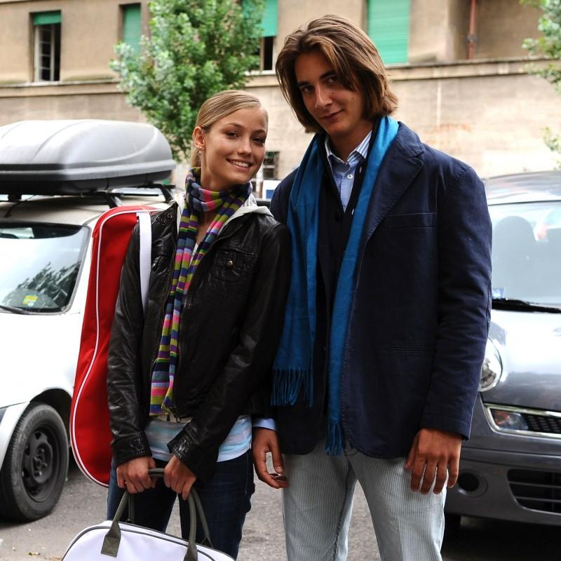 Veronica Oliver con Andrea Maj Beretta sul set di Amore 14