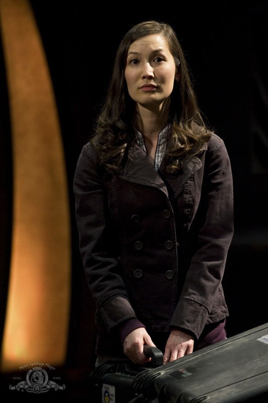 La Dottoressa Lisa Park (Jennifer Spence) nell'episodio Water di Stargate Universe
