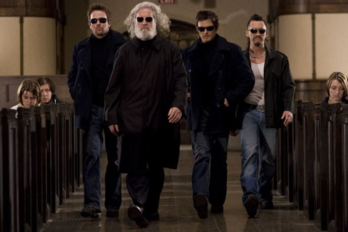 Sean Patrick Flanery, Clifton Collins Jr., Norman Reedus e Billy Connolly in una scena del film The Boondock Saints II: All Saints Day