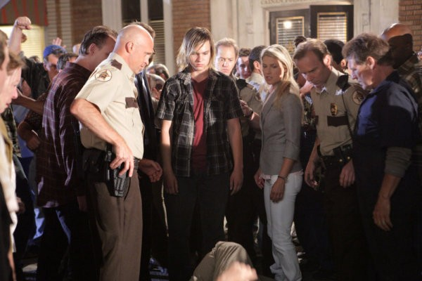 Ali Larter in una scena di Strange Attractors dalla quarta stagione di Heroes
