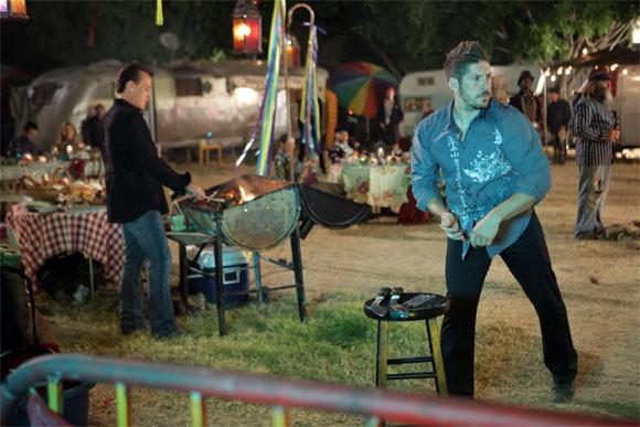 Robert Knepper e Ray Park in una scena di Tabula Rasa dalla quarta stagione di Heroes