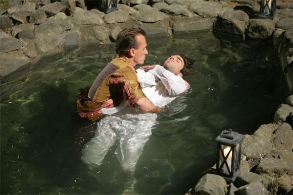 Robert Knepper e Zachary Quinto in una scena tratta da Tabula Rasa dalla quarta stagione di Heroes