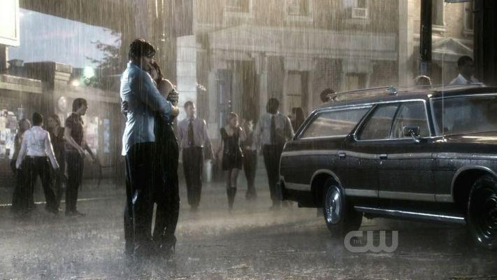 Tom Welling ed Erica Durance nell\'episodio Rabid di Smallville