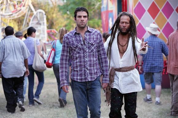 Zachary Quinto in una scena di Tabula Rasa dalla quarta stagione di Heroes