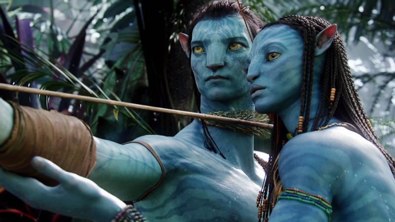 Jake e Neytiri in una scena del film Avatar